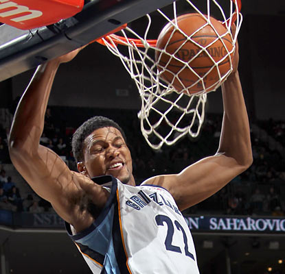 Rudy Gay and the Grizzlies climb out of a 17-point hole in the third quarter and finish with an eight-point win.  (AP)