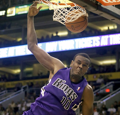 No DeMarcus Cousins? No problem. Samuel Dalembert takes his spot in the starting lineup and puts up 18 points and 15 boards. (AP)