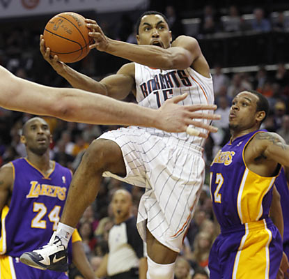 Gerald Henderson (18 points) helps the Bobcats beat the Lakers for the eighth time in their past 10 meetings.  (AP)