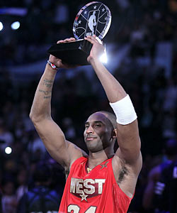 Kobe on winning MVP: 'This will be my last All-Star Game in front of these home fans, so it feels good to do it.' (Getty Images)