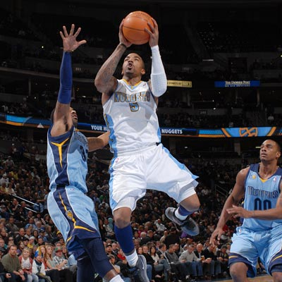 J.R. Smith scores 26 points while leading the Nuggets to victory over the Grizzlies.  (Getty Images)