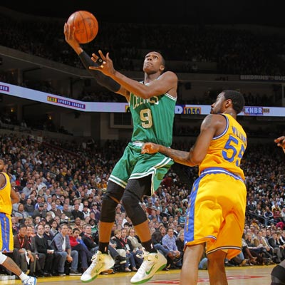 Rajon Rondo posts 19 points, 15 assists and six rebounds while helping the Celtics rout the Warriors.  (Getty Images)
