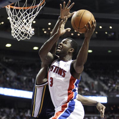 Rodney Stuckey scores 28 points while leading a short-handed Pistons squad to victory over the Jazz.  (Getty Images)