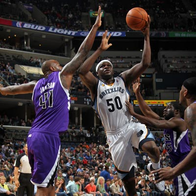 Zach Randolph posts 23 points and 12 rebounds while helping the Grizzlies edge the struggling Kings.  (Getty Images)