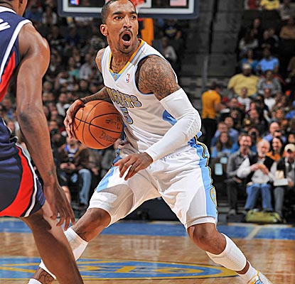 J.R. Smith scores a team-high 19 off the bench, picking up the slack for Danilo Gallinari, who sits out with a sore toe.  (US Presswire)