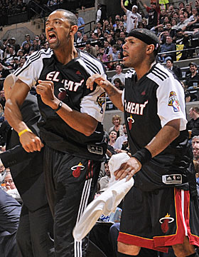 Acquired to be veteran leaders and contributors, Juwan Howard and Eddie House have been inconsistent off the bench. (Getty Images)