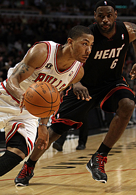 Bolstering Derrick Rose's MVP candidacy is the Bulls' performance against the NBA's elite teams. (Getty Images)