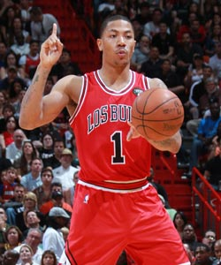 Derrick Rose is averaging 24.6 points and 8.1 assists a game. (Getty Images)