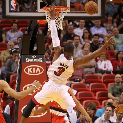 Dwyane Wade pours in 38 points, but the Heat manage to drop the ball against the Trail Blazers.  (Getty Images)