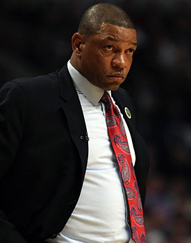 As the playoffs approach, Doc Rivers and the Celtics have an identity crisis. (Getty Images)