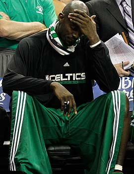 Kevin Garnett's Celtics enter playing just .500 ball in their last 10 games. (Getty Images)