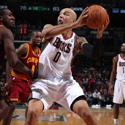 The Bucks' Drew Gooden grabs his first career triple-double during a dominant outing against the Cavs.   (Getty Images)