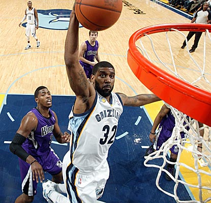 O.J. Mayo comes off the bench for 18 points to lead the Grizzlies past the Hornets. (Getty Images)