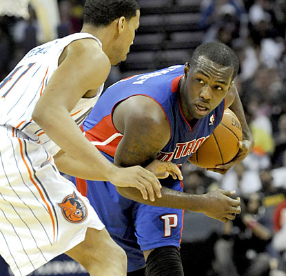 Rodney Stuckey contributes 24 points -- a game high -- off the bench as his Pistons get their first road win since Feb. 9. (US Presswire)