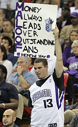 Kings fans might not be all that welcoming if the Maloof brothers are forced to stay in Sacramento. (AP)
