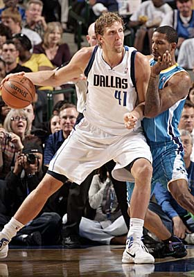 The first European-born player awarded MVP, Dirk Nowitzki is leading the Mavs to their 11th consecutive playoffs. (Getty Images)