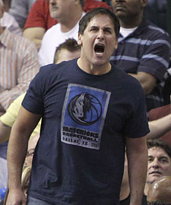 Mavs owner Mark Cuban says he's willing to be fined for voicing his complaints. 'I'm positive they missed it ...' (AP)