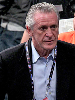 Pat Riley's unprecedented offseason moves should earn him some postseason hardware. (Getty Images)