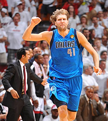 While Erik Spoelstra struggles to keep his team composed, Dirk Nowitzki and the Mavs thrive under pressure. (Getty Images)