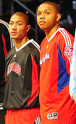 NBA lottery picks in 2008, Derrick Rose and Eric Gordon were spectacular as teammates in 2006. (Getty Images)