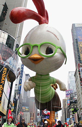 Chicken Little is just a big balloon in a parade -- what does he know about the NBA lockout? (Getty Images)