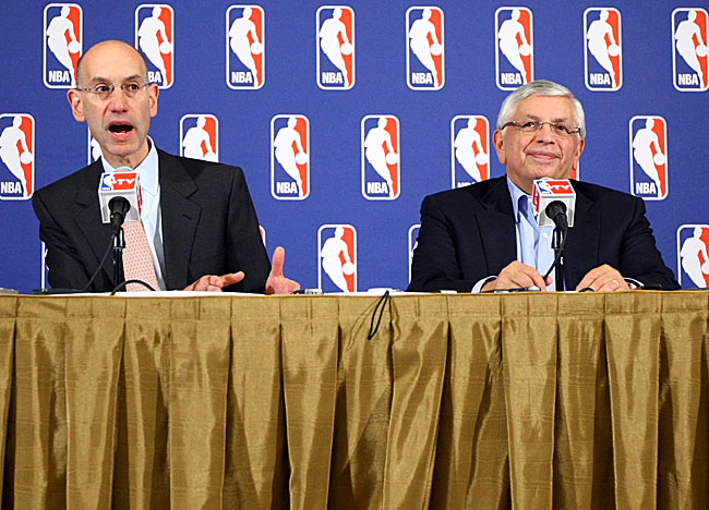 Commissioner David Stern often demurs in interviews, asking Adam Silver to respond instead. (Getty Images)