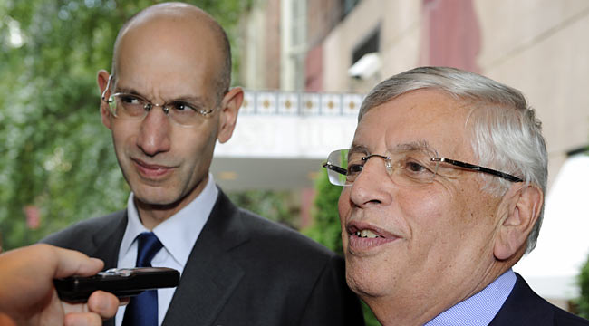 Thus far, Adam Silver and David Stern can't find common ground with the NBPA. (AP)