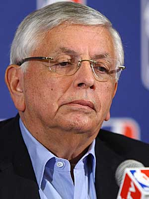 Forget the media; David Stern himself looks as if he could use a good laugh. (Getty Images)