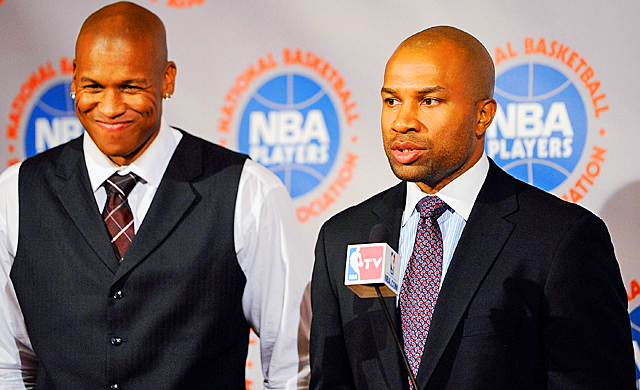 Derek Fisher (right) and the NBPA have yet another ultimatum to deal with from David Stern. (Getty Images)
