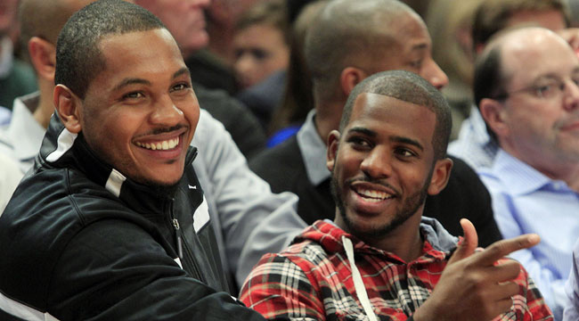 Chris Paul might find it difficult to team up with Melo in New York. (AP)