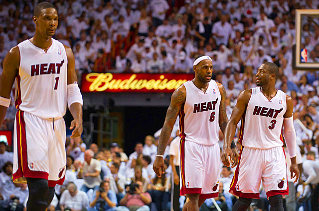 Bosh, James and Wade were weary of being every opponent's favorite target by season's end. (US Presswire)