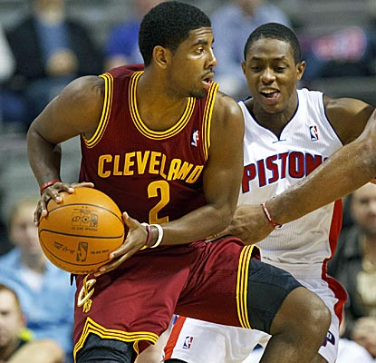 Cavaliers rookie Kyrie Irving scores 21 points in his NBA debut as Cleveland beats Detroit. (US Presswire)