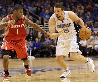 Hedo Turkoglu (23 points) is one of five Magic players to score in double digits against the Rockets. (AP)
