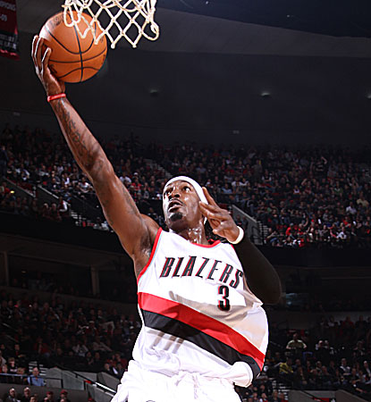 Gerald Wallace records an impressive night for Portland with 25 points, eight rebounds and five assists.  (Getty Images)
