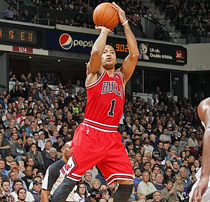 Derrick Rose scores 19 points and dishes out eight assists as the Bulls use a 15-0 run to down the Kings. (Getty Images)