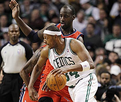 Paul Pierce scores nine of his 24 points during a game-breaking third-quarter run to help Boston win four straight. (US Presswire)
