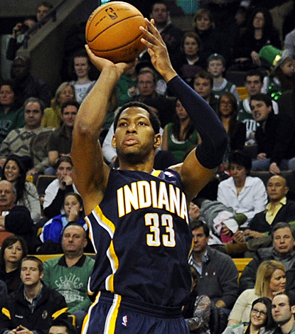 Danny Granger helps the Pacers pick up a victory in Boston by leading the team with 15 points. (US Presswire)