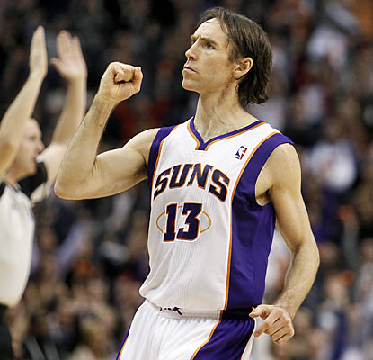 Steve Nash connects on all seven of his shots and finishes with 17 points. He also provides nine assists against the Blazers. (AP)