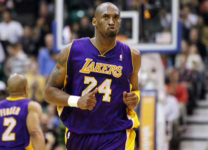 Injured or not, Kobe Bryant is playing on young legs lately.  Kobe gets 40 points to lead the Lakers over the Jazz. (AP)