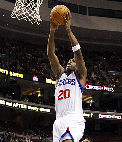 Jodie Meeks goes up for a dunk, scoring two of his career high 26 points against the Wizards. (AP)
