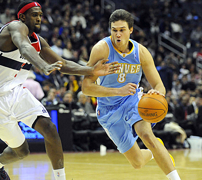 Danilo Gallinari helps the Nuggets drive past the Wizards with 21 points and five assists. (US Presswire)