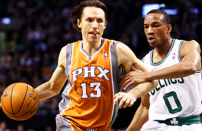 Steve Nash has no issues with the Celtics as he scores 11 points and delivers nine assists. (US Presswire)