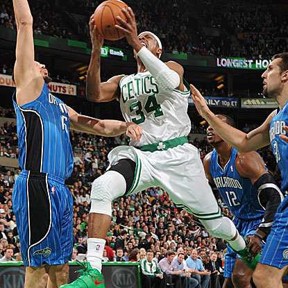 Paul Pierce provides a game-high 19 points as the Celtics hold the Magic to a franchise-low in points and field goals. (Getty Images)