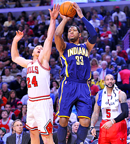 Danny Granger scores 22 points as the Pacers hand the Bulls their first home loss of the season. (US Presswire)