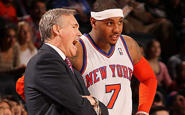 Mike D'Antoni wasn't a fan of giving up key role players for Carmelo Anthony. (Getty Images)