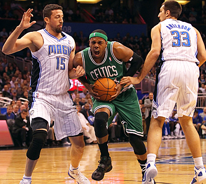 Paul Pierce sparks the Celtics' comeback with a game-high 24 points and 10 assists against Orlando. (US Presswire)
