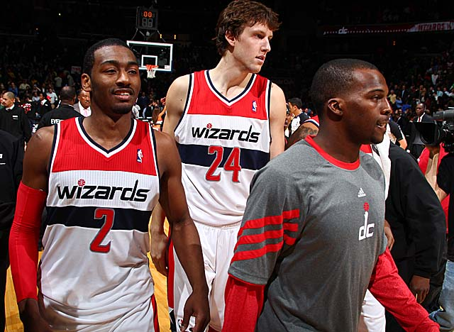 The Wizards aim to better develop young players like John Wall (No. 2) and Jan Vesely (24). (Getty Images)