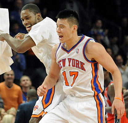 Jeremy Lin doesn't disappoint in his first career start as he provides 28 points and eight assists for the depleted Knicks. (AP)