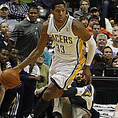 Danny Granger scores 12 of his 16 points in the fourth quarter to help the Pacers get past the Jazz.  (US Presswire)