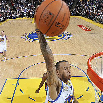 The Warriors' Monta Ellis matches an NBA season high with 48 points in a losing effort.  (AP)